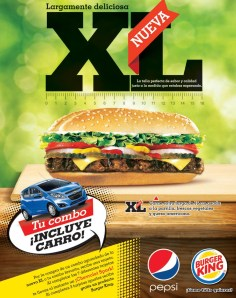 pepsi y Burger KING nueva XL